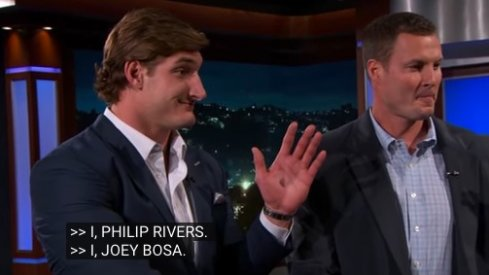 Joey Bosa made an appearance on Jimmy Kimmel Live Tuesday night.
