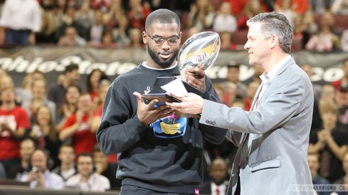 J.T. Barrett, Tyquan Lewis, Mike Weber and Billy Price were honored on Sunday for their individual accomplishments during the 2016 football season.