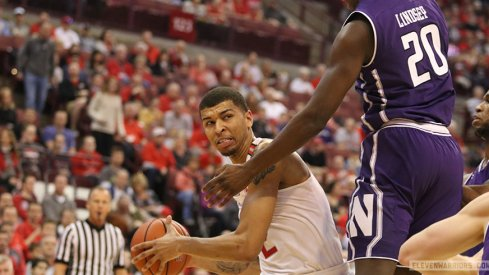 Ohio State's Marc Loving drives against Northwestern.