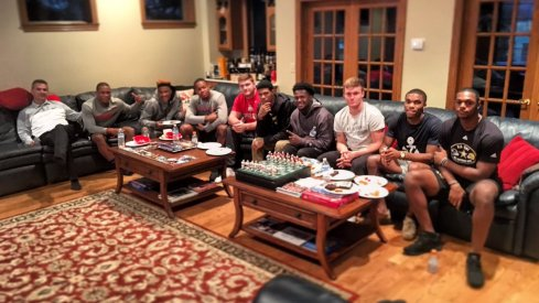Urban Meyer and the Select '17 at the Meyer compound.