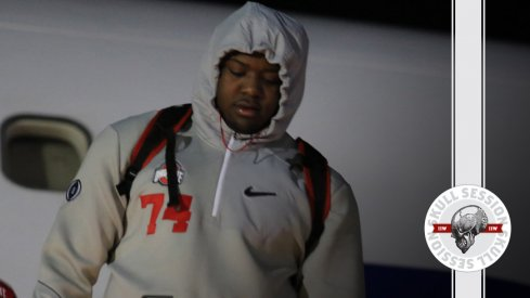 Ohio State left tackle Jamarco Jones deboards the plane for the January 25th 2017 Skull Session.