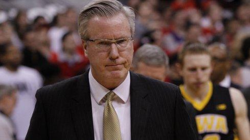 Iowa head coach Fran McCaffrey