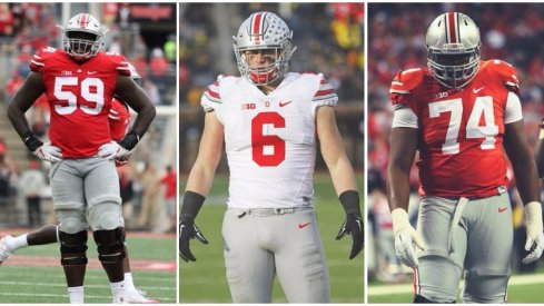 Tyquan Lewis and Jamarco Jones arrived at Ohio State as consensus 4-stars while Sam Hubbard wasn't quite as hyped.