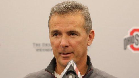 Ohio State coach Urban Meyer addresses the media.