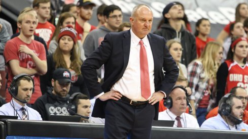 Ohio State coach Thad Matta on the sidelines against Maryland.