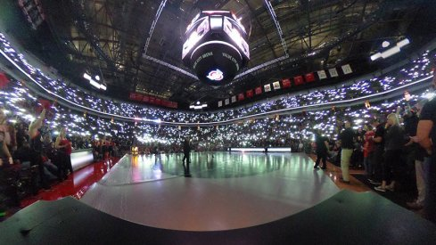 The Schottenstein Center was lit up for Kyle Snyder's match on Friday night.