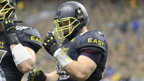 Urban Meyer sees Josh Myers and Wyatt Davis playing into the mix on Ohio State's offensive line immediately.