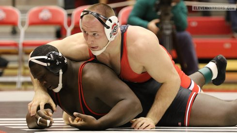 Kyle Snyder scored a technical fall for Ohio State against Rutgers.