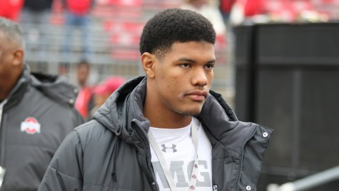 2017 Ohio State signee Isaiah Pryor on a recruiting visit last season.