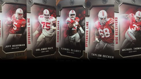 Ohio State greats placed outside unit meeting rooms.