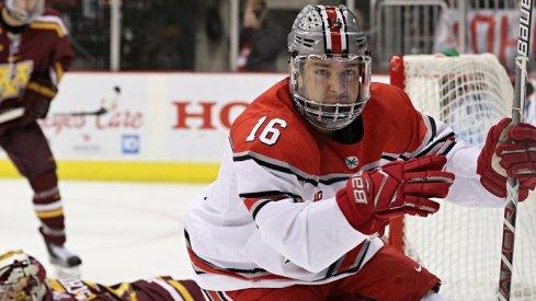 Matt Weis kicked off the scoring in Ohio State hockey's 5-4 win over Minnesota.