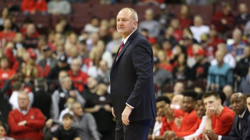 Ohio State coach Thad Matta on the sidelines against Rutgers.
