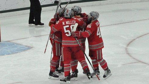 Hockey hugs!