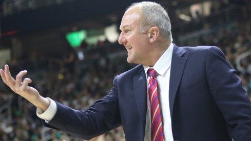 Ohio State coach Thad Matta at Michigan State.