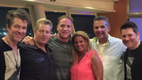 Urban Meyer hangs with Rascal Flatts