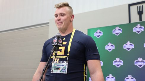 A rested and healthy Pat Elflein is anxious for the next step in his football career: the 2017 NFL Combine.