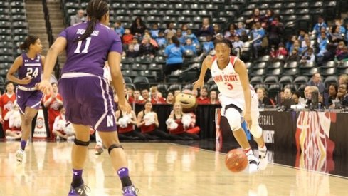 Kelsey Mitchell led Ohio State past Northwestern to open the Big Ten Tournament.