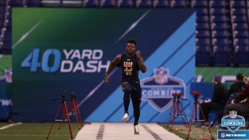 Curtis Samuel burns a 4.31-second 40-yard dash at the NFL Combine.