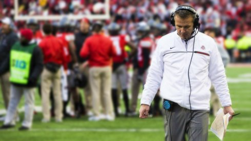 Urban Meyer in overtime during the 2016 Ohio State-Michigan game