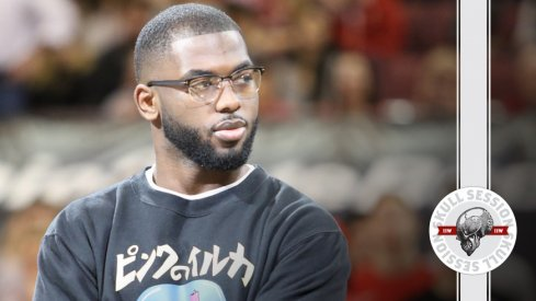 J.T. Barrett and his glasses eye for March 7th 2017 Skull Session