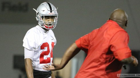 Ohio State early enrollee Shaun Wade during the first spring practice.