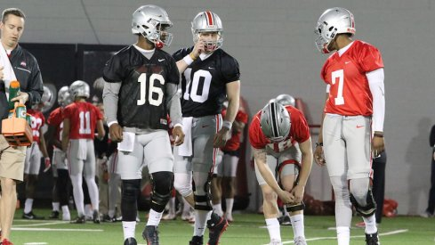 How Ohio State manages its quarterback snaps this spring is of great interest and concern to Urban Meyer.
