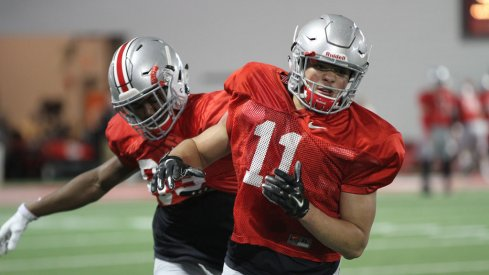 Urban Meyer liked how his wide receivers performed on the first day of spring practice, now wants them to do it again