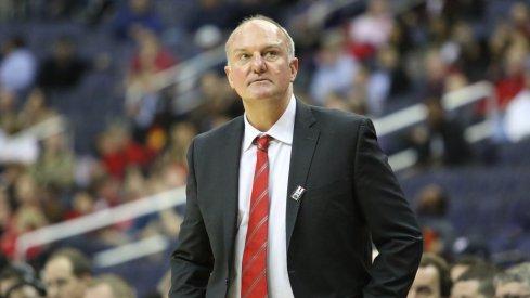 Ohio State coach Thad Matta following his team's loss to Rutgers.