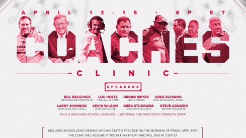 Ohio State announces its speakers for its 86th coaches clinic.