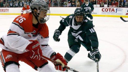 Mason Jobst was the co-scoring leader for Big Ten Hockey in 2016-17.