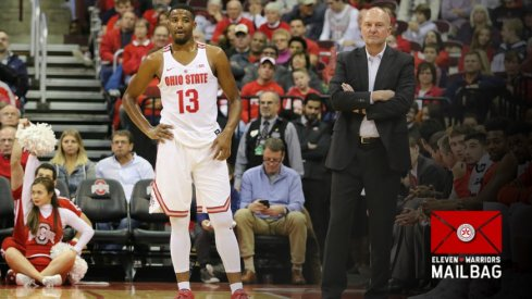 JaQuan Lyle speaks to Thad Matta earlier this season.