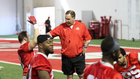 New Ohio State offensive coordinator Kevin Wilson during spring practice.
