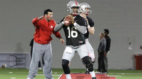 Ohio State quarterback J.T. Barrett and new quarterbacks coach Ryan Day work the clean slate each other is presented with to fix the passing game.