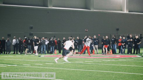Scenes from Ohio State's Pro Day in 2015.