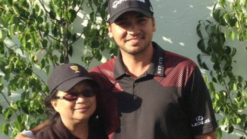 Jason Day with his mother, Dening.