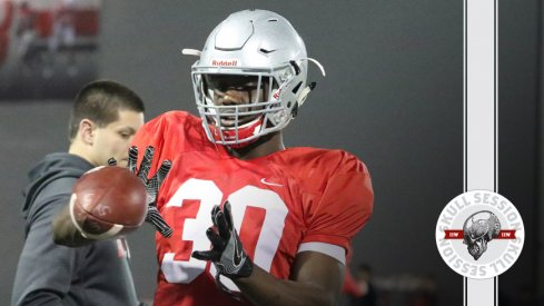 Demario McCall catches a ball for the March 27 2017 Skull Session