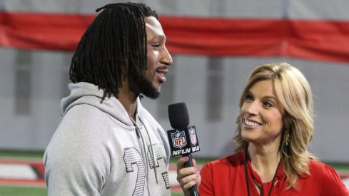 Former Ohio State safety Malik Hooker speaks with NFL Network at pro day.