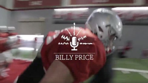 Billy Price mic'd up for practice on Thursday at Ohio State.