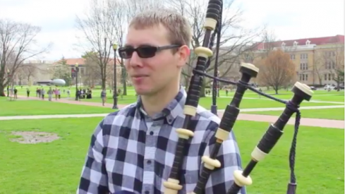 Josh Whitson: the oval bagpipe guy.
