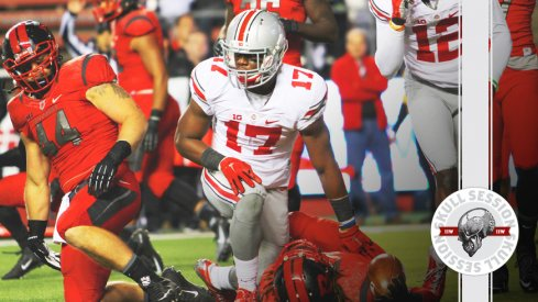 Jerome Baker tombstones a Rutgers Scarlet Knight for the April 10th 2017 Skull Session