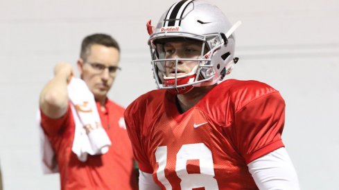 Tate Martell at an Ohio State practice.
