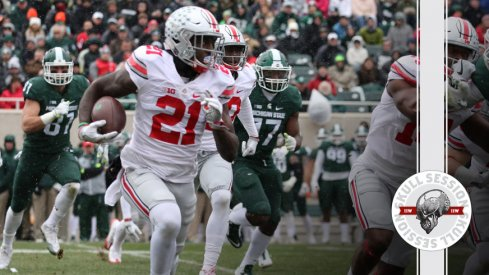 Parris Campbell dips for the April 13 2017 Skull Session