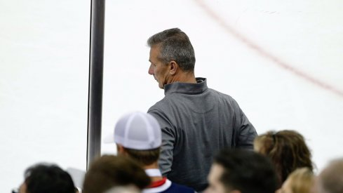 Urban Meyer on the glass for the CBJ Game