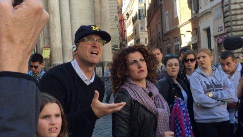 Jim Harbaugh in Rome.