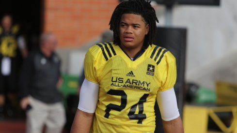 Chase Young at a U.S. Army All-American practice.