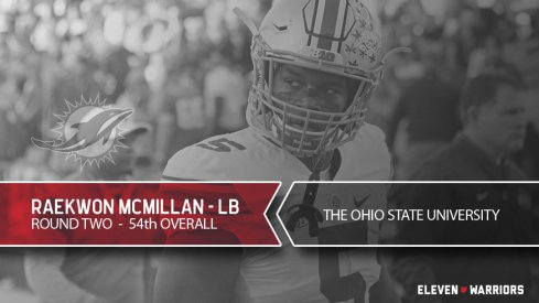 Raekwon McMillan drafted by Miami.