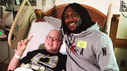 Malik Hooker visited Nationwide Children's Hospital in Pittsburgh today.