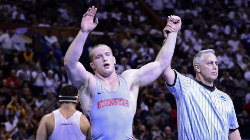 Kyle Snyder shortly after winning his 2nd NCAA crown.