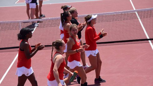 The Ohio State women's tennis team advanced to the Sweet 16 with a 4-0 win over Notre Dame
