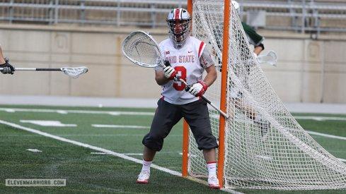 Ohio State goalie Tom Carey.